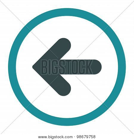 Arrow Left flat soft blue colors rounded vector icon