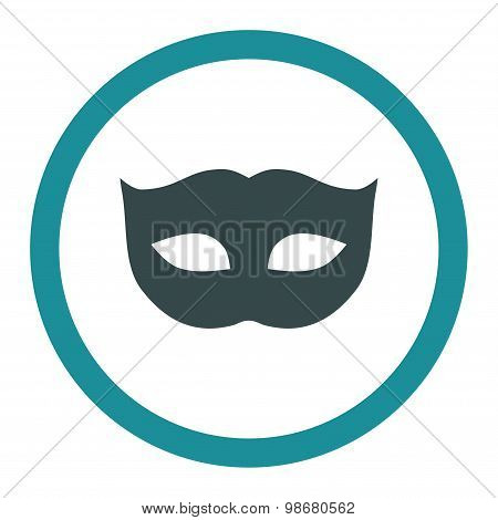 Privacy Mask flat soft blue colors rounded vector icon