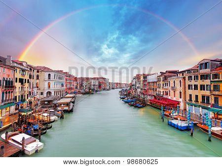 Grand Canal - Venice From Rialto Bridge