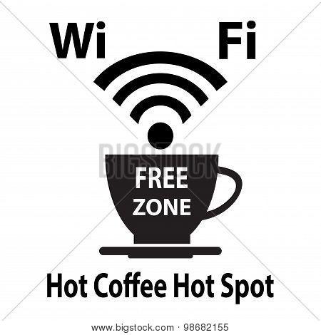 Free wifi cybercafe poster