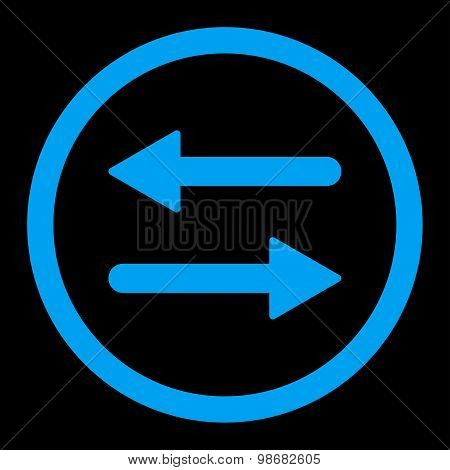Arrows Exchange flat blue color rounded raster icon