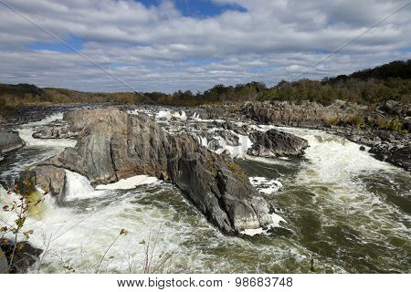Great Falls Park, Virginia, Usa