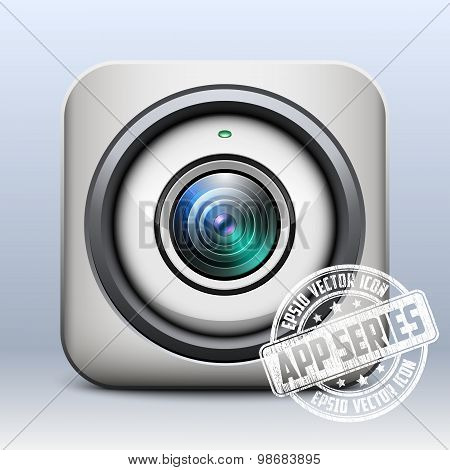 Web Camera Icon. App Series