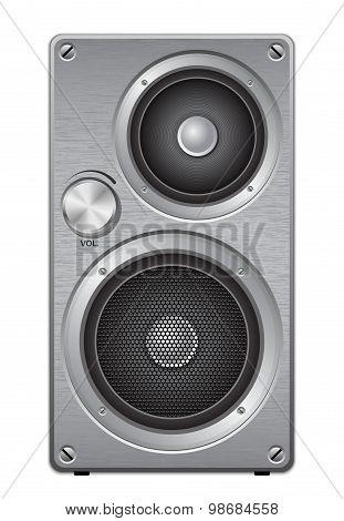 Aluminium Two Way Audio Speaker