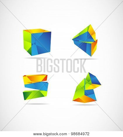 Corporate 3D Logo Geometric