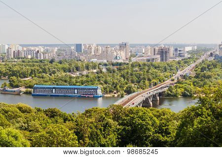 Cityscape View Of The Dnieper