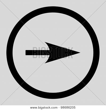 Arrow Axis X flat black color rounded raster icon