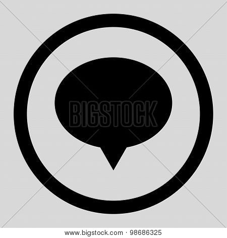 Banner flat black color rounded raster icon