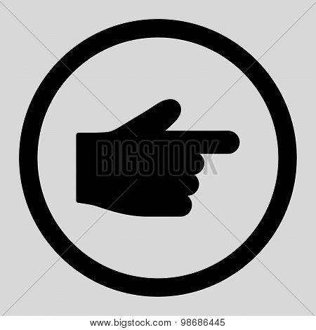 Index Finger flat black color rounded raster icon