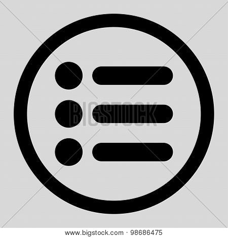 Items flat black color rounded raster icon