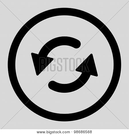 Refresh Ccw flat black color rounded raster icon