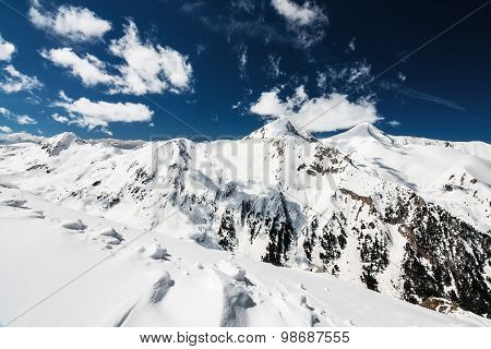 Snow Capped Mountain Valley