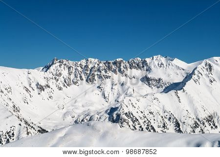 Snowy Steep Mountain Ridge