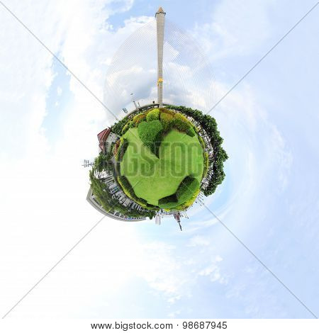 360 degree panorama of park