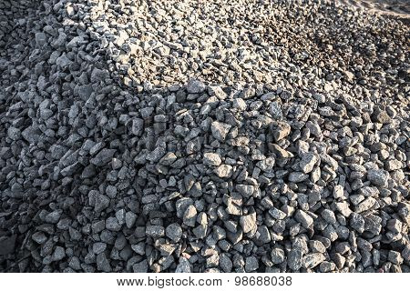 Pile Of Crushed Stones