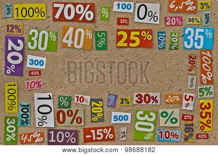 PERCENTAGES background