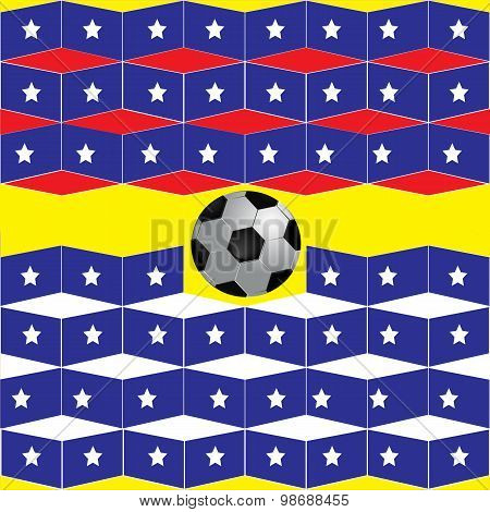 Geometric background football on the star flag
