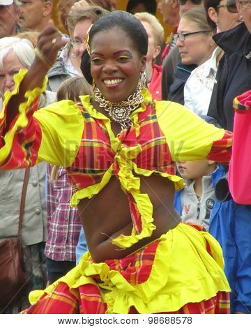 Female Folk Dancer Martinique