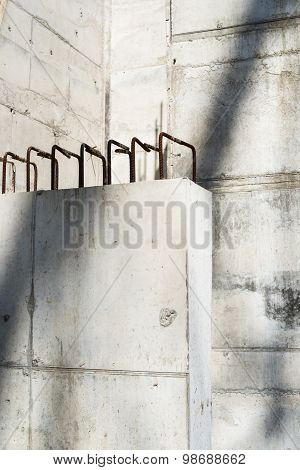 Concrete Blocks In The Construction Site