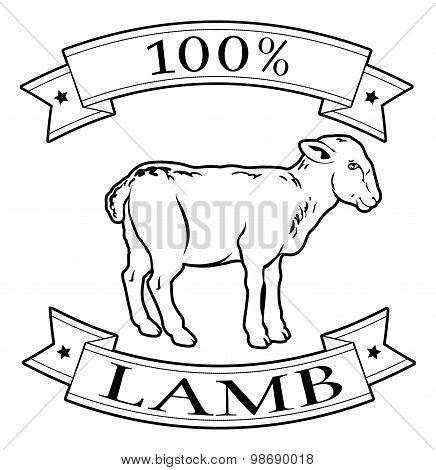 100 Percent Lamb Food Label