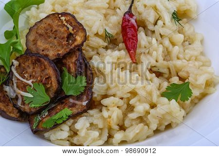 Risotto With Eggplant