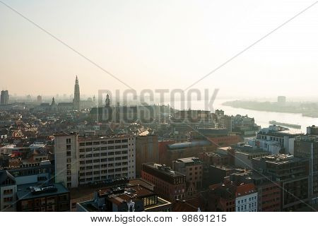 View Over Antwerp City, Belgium