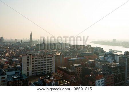 View Over Antwerp City, Belgium