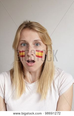 Surprised Spanish Sports Fan