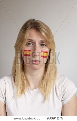 Upset Spanish Sports Fan