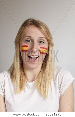 Happy Spanish Sports Fan