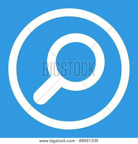 View flat white color rounded vector icon