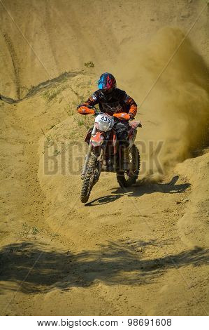 Sibiu, Romania - July 18: Joseph Till Competing In Red Bull Romaniacs Hard Enduro Rally With A Madsc