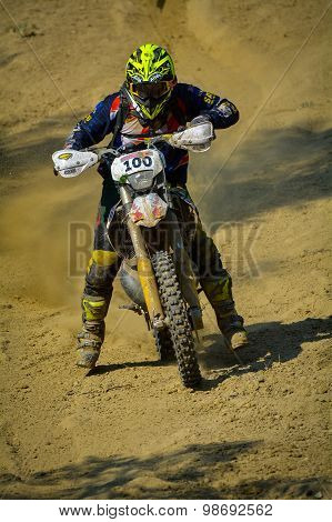 Sibiu, Romania - July 18: Dougy Herbert Competing In Red Bull Romaniacs Hard Enduro Rally With A Kor