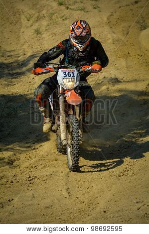 Sibiu, Romania - July 18: Stefan Bachmann Competing In Red Bull Romaniacs Hard Enduro Rally With A T