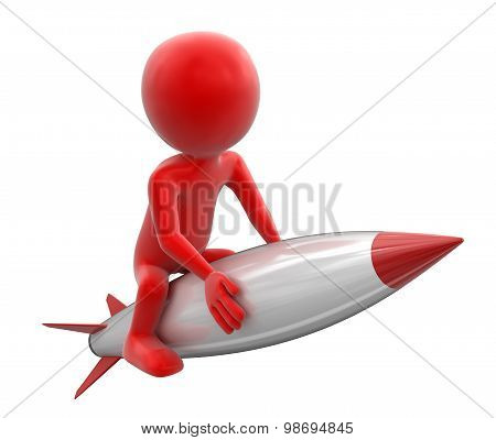 Rocket man (clipping path included)
