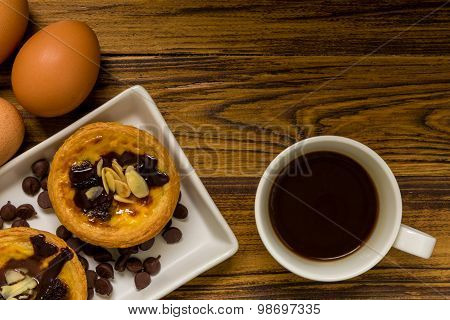 Dessert For Coffee Background / Dessert For Coffee / Dessert For Coffee, Egg Tart Background