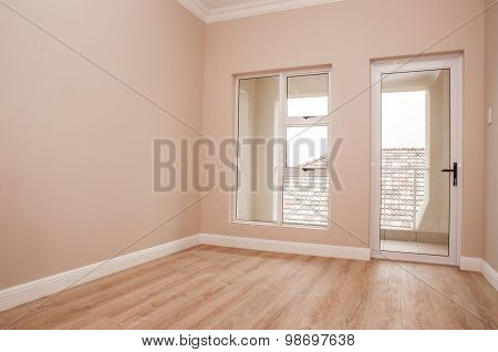 Empty Bedroom And Patio