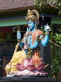 stock photo of shiva  - Shiva statue hindu idol in Ubud Bali Indonesia - JPG