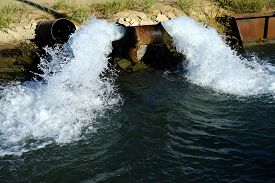stock photo of water shortage  - The extreme drought has necessitated ground water to be pumped into a Central California irrigation canal causing concern that the water table will be lowered - JPG