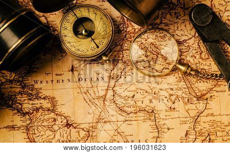 poster of Travel Geography Navigation Concept Background.