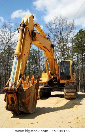 construction equipment backhoe