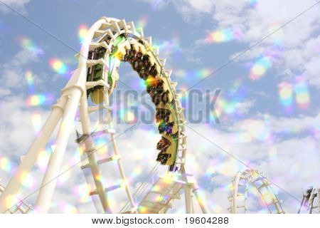 blur roller coaster ride with starburst.