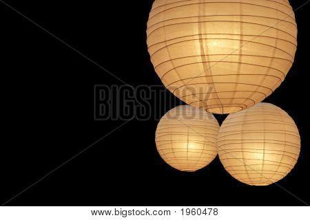 Balloon Paper Lamps On Right