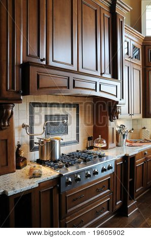 A beautiful custom gourmet kitchen