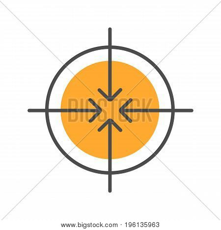 Aiming symbol color icon. All direction arrows. Isolated vector illustration