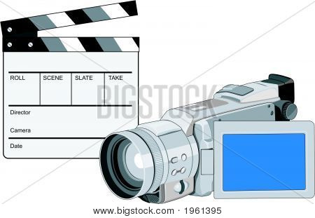 Clapboard With Videocamera