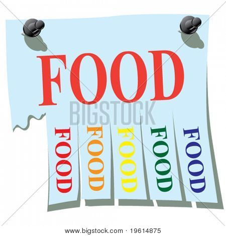 Sticker. Food.
