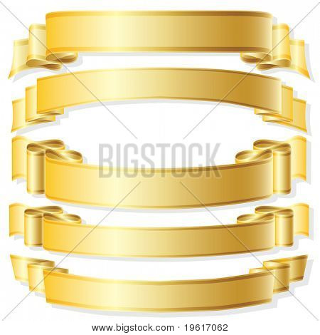 Ribbon. Vector illustration.