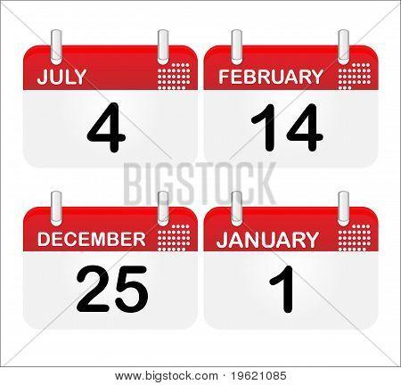 Desk Calendar Icons