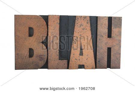 Blabla im Buchdruck-Holz-Art
